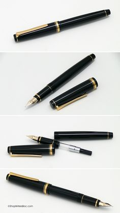 Namiki Falcon Fountain Pen - Black with Gold Trim, Soft Medium Nib $144 (@ nibs.com you can get the nib modified for extra flex)
