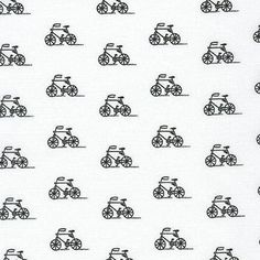 Fabric: Bicycles Black Collection: London Calling 7 Manufacturer: Robert Kaufman Fiber Content: 100% Cotton Lawn Width: 44 This is a beautiful, high quality apparel fabric. It is a soft cotton perfect for lightweight tops, dresses and skirts. This fabric can be purchased by the