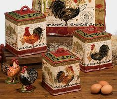 Delicieux Tuscan Rooster Canisters, By Certified International. The Tuscan Rooster  Collection Features Rooster Themed