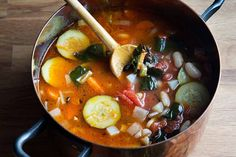 Mario Batali's Minestrone Genovese | The Dr. Oz Show | Follow this Dr. Oz Recipe board Now and Make it later!  Warm up on a chilly night with this healthy and flavorful soup recipe from celebrity chef Mario Batali.