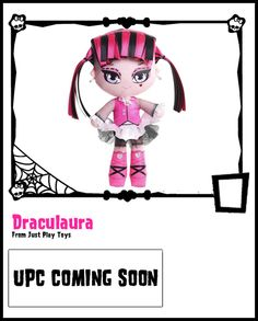 Draculaura featuring ribbon hair, made by Just Play Toys