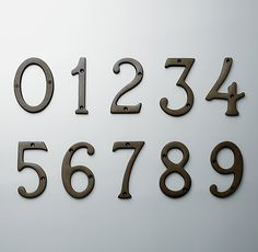 RH Standard House Numbers
