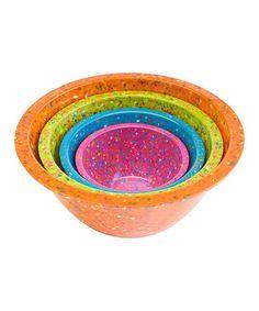 Assorted Orange Confetti Nested Bowl Set by Zak Designs #zulily #zulilyfinds