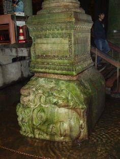 Estambul, basilica cisterna, detalle