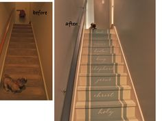 Decorating Stair risers | Painted Stairs | Stair Makeover | Bella Tucker Decorative Finishes ...
