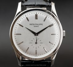 Patek Philippe Calavatra 18 K White Gold Watch