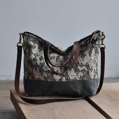 CARRY BAG BURE/wax by bookhouathome on Etsy $120