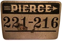 Appears to be an employee identification badge with number pre-1938