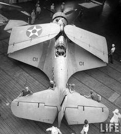 A carrier-based Douglas TBD Devastator torpedo bomber