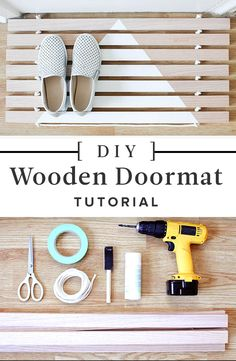 How to Make Your Own Wood Door Mat: Made with minimal materials by Lonny's go-to craft expert Steph Hung, this stylish yet functional wood door mat couldn't be easier to put together. Bonus: It has a handle for portability, so you can hang it up when not in use. But trust us, you're going to want to use it. All.the.time.