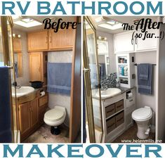 Rv Makeover Rv Redo - Beautiful Rv Makeover Rv Redo, I Like the Cabinet Hardware for My Camper Reno] Rv Bathroom Camper Renovation, Home Renovation, Camper Remodeling, Remodeling Ideas, Bathroom Renovations, Bathroom Ideas, Small Bathroom, Remodel Bathroom, Budget Bathroom