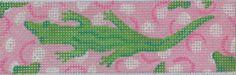 Belt or Eliza B. flip-flops - Lilly-inspired alligators (pinks & greens)