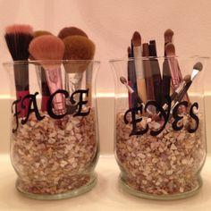 Did it myself! Makeup brush organization.