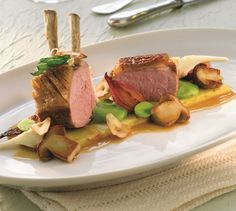 lam, potet, artiskokk , feveskrem og steinsopp  | Appetitt Steak, Food, Gourmet, Essen, Steaks, Meals, Yemek, Eten