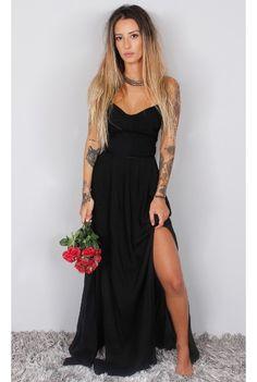 Vestido Longo Coisa Nossa - fashioncloset                                                                                                                                                                                 Mais