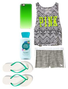 """""""Untitled #324"""" by buckshot-baby1799 ❤ liked on Polyvore featuring Victoria's Secret PINK, Victoria's Secret, Casetify and Havaianas"""