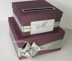 Card Box Wedding Card Box Bling Money Box by LaceyClaireDesigns