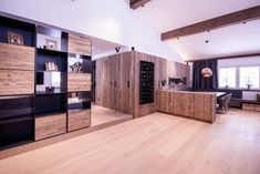 Gesamtkonzept Wohnung G. - Innenarchitektur by Kotrasch Natural Materials, Divider, Interior Design, Room, Furniture, Home Decor, Condo Interior Design, Carpentry, Old Wood