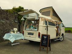 VW Camper Candy bar at Devon Wedding
