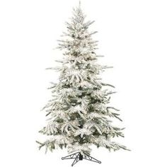 Fraser Hill Farm Flocked Mountain Pine Christmas Tree with Smart String Lighting, Mountain Pine flocked artificial Christmas tree from Fraser Hill Farm features a natural A-line silhouette with extremely lifelike foliage and all Flocked Artificial Christmas Trees, Pine Christmas Tree, Flocked Christmas Trees, Artificial Tree, White Christmas, Christmas Home, Christmas Decorations, Christmas Ideas, Christmas Christmas