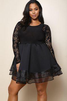 fcff1413e9ded Luxe Lace Plus Size Dress Trendy Plus Size Clothing