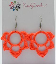 """Boucles d'oreilles crochet """"Les Lotus"""" par CandyCroch'"""