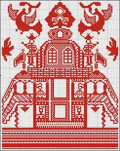 Free Easy Cross, Pattern Maker, PCStitch Charts + Free Historic Old Pattern Books: Russian Rushnik 1 - рушник