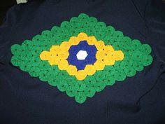 grupo de bordado: Bandeira do Brasil de fuxico