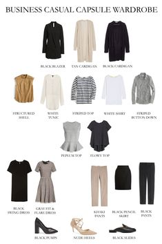 Make your casual capsule wardrobe go the distance by adding some of these pieces. - Outfits for Work Make your casual capsule wardrobe go the distance by adding some of these pieces. Capsule Wardrobe Work, Capsule Outfits, Fashion Capsule, Mode Outfits, Fashion Outfits, Office Wardrobe, Summer Work Wardrobe, Work Wardrobe Essentials, Staple Wardrobe Pieces