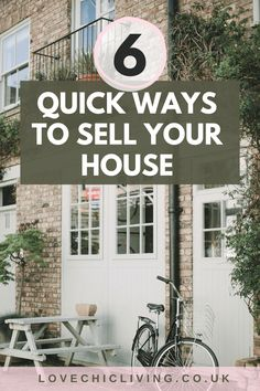 Lots of ideas, tips and tricks for making a quick house sale. When you need to sell your home fast, you need these tips. Do the prep, throw up a sign and a banner, and don't forget the staging. Preparing well for a house sale will really be a good investment. #housesale #lovechicliving Sell Your House Fast, Selling Your House, Uk Homes, Best Investments, Staging, Don't Forget, Beautiful Homes, Home And Family, Banner