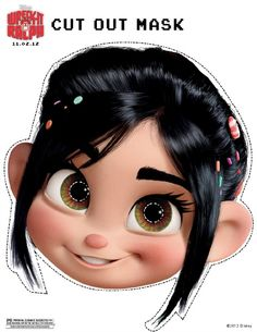 Printable Vanellope Face Mask at About A Mom