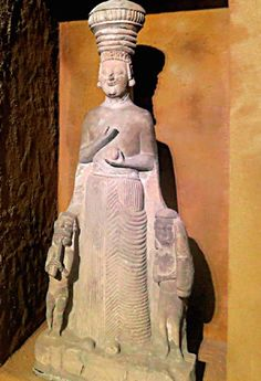 Meanwhile, a statue of the mother goddess Cybele http://www.cornucopia.net/library/blog/Kadinlar_10.jpg