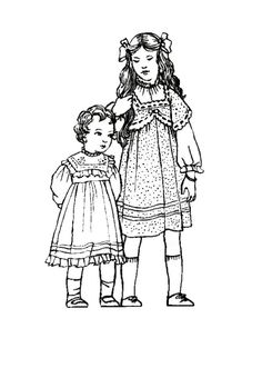 fashion coloring pages | Children in C20th Costume History 1900-1910 Edwardian Fashions for ...