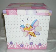 Ideas Originales Para Decorar Patios | Diseño imágenes - Part 17 Decoupage Box, Pretty Box, Keepsake Boxes, Storage Boxes, Holidays And Events, Diy Painting, Wooden Boxes, Wood Projects, Painted Furniture