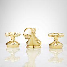 Teapot Widespread Bathroom Faucet - Cross Handles