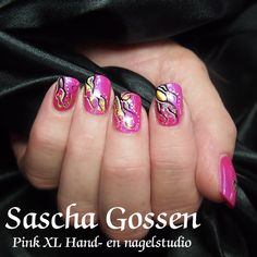 CND Shellac Tutti Frutti with some foils. #nailart #naildesign #pink #cnd #Shellac #CNDShellac