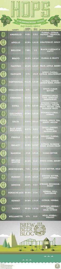 Les houblons: en infographique