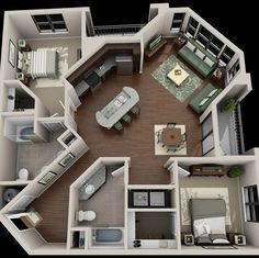 Your Guide to 4 bedroom apartments macon ga for your home haus Are You Making The 4 Bedroom Design Mistakes That Keep Decorators Up At Night? Sims House Plans, House Floor Plans, Small House Plans, Guest House Plans, Simple Floor Plans, Sims 4 House Building, Unique House Plans, Casas The Sims 4, 4 Bedroom Apartments