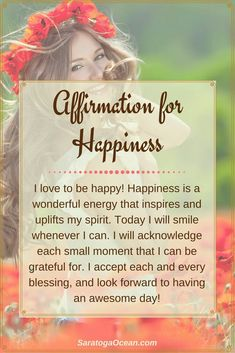 happiness affirmation