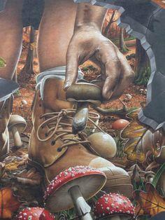 street art Glasgow Sand Sculptures, Sculpture Painting, 3d Street Art, Street Art Graffiti, Outdoor Sculpture, Outdoor Art, Ancient Greek City, Urban Graffiti, Yarn Bombing