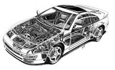 Vintage cars vintage motor cars Porsche 911 by Shin Yoshikawa Nissan Z Cars, Jdm Cars, Cutaway, My Dream Car, Dream Cars, Elkhart Lake, Nissan 300zx, Twin Turbo, Sport Cars