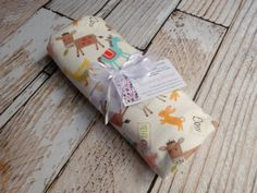 Extra Large Receiving Blanket, Cotton Flannel Swaddling Rolled Hem Serged Edge, Farm Animals, Farmer Baby Country Personalized