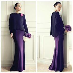 A modernized Malay Baju Kurung