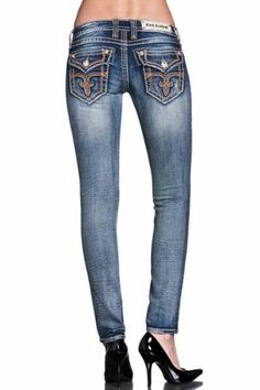 Rock Revival JEANS - Womens Tricia S2 Skinny Jean (Style Skinny Jeans Style, Rock Revival Jeans, Girls Jeans, Blue Jeans, Autumn Fashion, Cute Outfits, Pants, Tops, Women