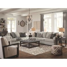 Get Ashley Furniture's Velletri Pewter Living Room Set with easy payment options from Coleman Furniture. Includes free in-home delivery and assembly. Living Room Grey, Living Room Sets, Home Living Room, Living Room Designs, Revere Pewter Living Room, Living Room Layouts, Living Room Couches, Charcoal Living Rooms, Fixer Upper Living Room