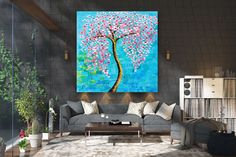 Large Abstract Painting,Modern abstract painting,square painting,home decor wall art,xl abstract painting,texture wall art FY0037