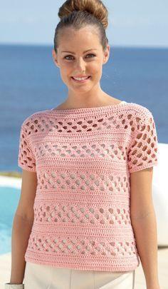 Sweaters in Sirdar Cotton DK - 7075 - Best Knitting Crochet Patterns Cardigan Au Crochet, Gilet Crochet, Crochet Cardigan, Crochet Yarn, Crochet Tops, Knit Poncho, Crochet Jacket, Crochet Round, Cotton Crochet