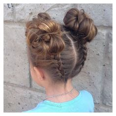 40 Cool Hairstyles for Little Girls on Any Occasion ❤ liked on Polyvore featuring hair
