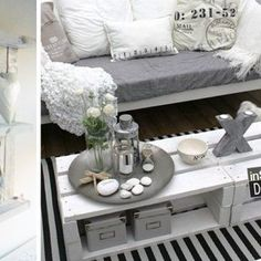 More ideas for furniture made from pallets - Interior and exterior decoration - Decor Scan : The new way of thinking about your home and interior design Magazine Table, Interior And Exterior, Interior Design, Home And Deco, Pallet Furniture, Furniture Decor, Home Living Room, Sweet Home, Room Decor