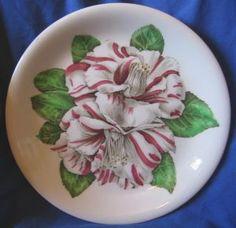 Vintage 40's Camellia Retro Hawaiiana Plate #decorativedishes